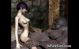 Ogres gangbang sexy 3d babes!