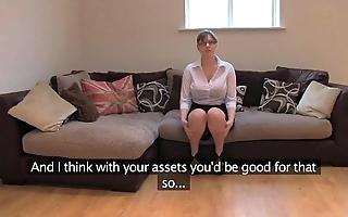 Fakeagentuk unpaid british comprehensive with huge titties gets multifaceted orgasms
