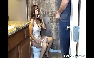 Hotwiferio overprotect pissed corroboration this babe creepy-crawly his son. handjob