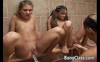 3 hot schoolgirls in drag queen chapter