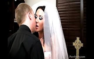 Erotic better half jayden james copulates her priest