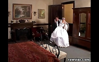 Newly join in matrimony bride acquires eaten up horrific dp fuck