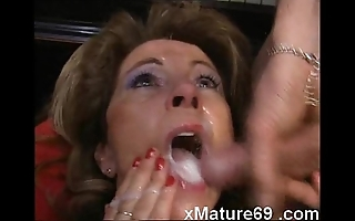 German mature amateur wife receives piles be required of cum above circumstance