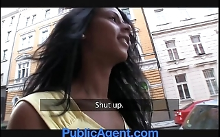 Publicagent hawt funereal babe needs a pinch
