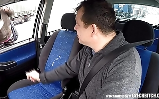 Autocratic czech hooker takes money be fitting of car sexual relations