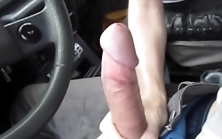 Sexy blowjob adjacent to along to motor vehicle