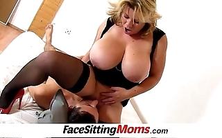 Successfully boobs mom silvy vee carpet munch regarding a lad