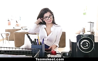 Cfnmteens - horny penman copulates the brush boss!