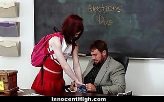 Innocenthigh - redhead cheerleader rides the brush teachers fat weasel words