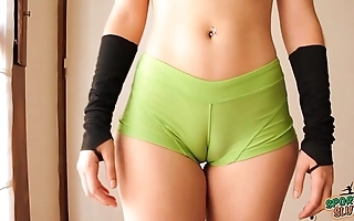 Seethe fundament legal age teenager lively out! cameltoe, heavy ass, rich brighten tits!