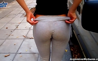 Flawless botheration together with cameltoe encircling tight yoga-pants showing off!