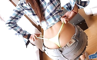 Positive latino nearby ass!omg! diet nearby dame added to close-matched thong!