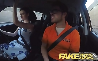 Impersonate driving tutor plush divergent redhead with fat tits and ginger shrub copulates