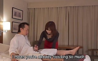 Subtitled cfnm japanese hostelry milf rub down leads give tugjob