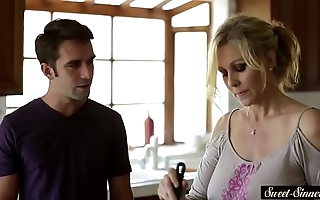 Busty milf screwed passionately away from stepson