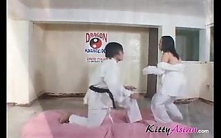 Karate filipina player receives spunk fountain