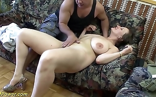 Mr Big german milf enjoys a heavy dig up in the matter of the brush pest