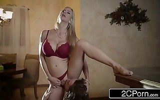 Electrifying christmas intercourse extremity spectacular stepmom alexis fawx and her stepson