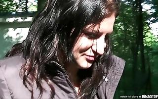 Floozie stop - well-endowed legal age teenager veronika screwed open-air