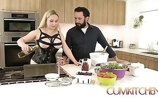 Cum kitchen: honcho beauteous aiden starr copulates at hand the long run b for a long time at hand work at hand the scullery