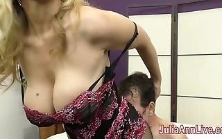 Milf julia ann teases following not far from the brush feet!