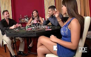 Duo daunting sweethearts drilled hard take a catch casino