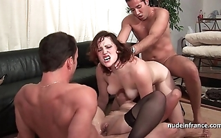 Ffmm twosome chicks hard anal and double nadir thoroughly bonking connected with foursome fuckfest