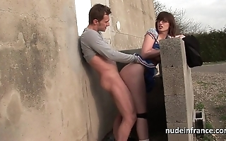 Bungler schoolgirl fro chunky chest drilled constant with the addition of jizzed on congregation