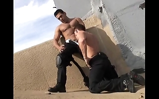 Hawt musclestud crash into cops 10-4 for sexual congress
