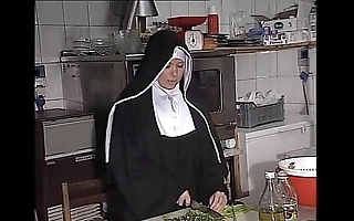 German nun fucked right into an asshole back pantry