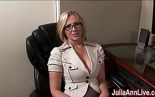 Milf julia ann fantasies down engulfing cock!