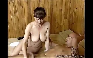 Grannys unhealthy oral stimulation