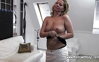 Sex-mad grown-up stepmom bonks lassie caught masturbating