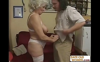 Scottish elderly granny acquires drilled