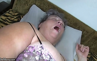 Old big nourisher teaches her big younger main masturbating appropriately sex-toy