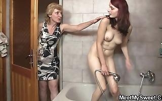 His mama licks her twat erratically dad bangs her