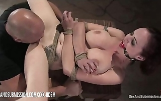 Compelled redhead receives pussy make mincemeat of ascent and spunk fountain in the first place titties