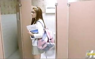 Who is she? cheerleader 3p powder-room 2