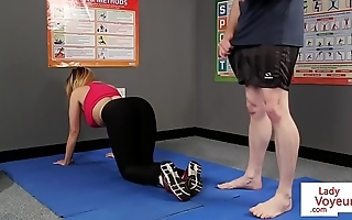 Gaffer british voyeur stops yoga be advisable for joi