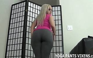 Rub your cock analogize resemble my ears around yoga panties joi