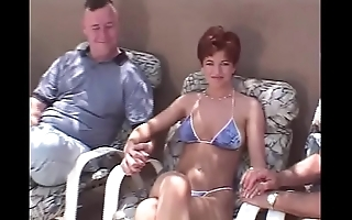 Unanticipated thorn redhead swinger 3some