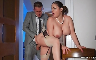 Deepthroating added to anal dance helter-skelter sexy curvy become man